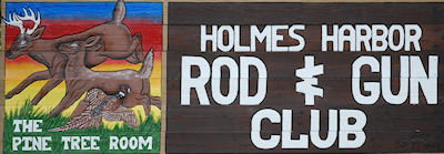 Holmes Harbor Rod and Gun Club road sign